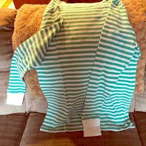 NWOT Old Navy Long Sleeve Top Green/White Stripe